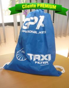mochila con jareta ideal para promocionar algun producto o servicio