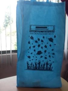 bolsas ecologicas azul cielo