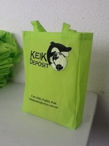 bolsa ecologica verde fluorecente