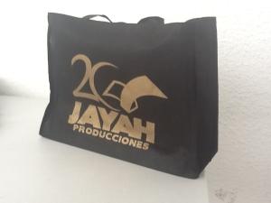 bolsa reutilizable negra tinta dorada cd juarez