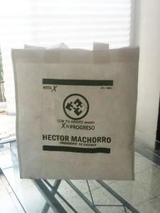 bolsas ecologicas blancas impresas 1 tinta verde
