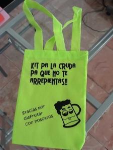 bolsas sin fuelle pequeñas 2014 color verde