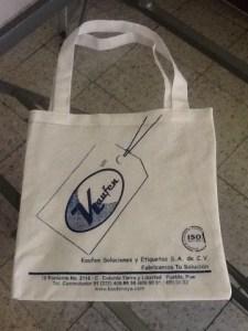 bolsas ecologicas sin fuelle 1 tinta azul puebla