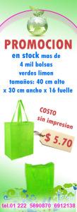 bolsas ecologicas verdes limon promocion octubre 2014