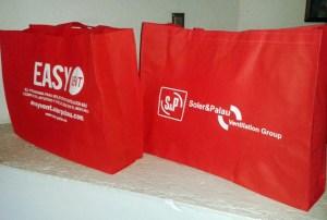 frente y vuelta imrpesion roja 110 g bolsas ecologicas