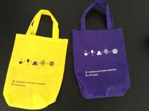 bolsas ecologicas amarillas impresas