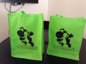 bolsas ecologicas verdes impresas 1 tinta