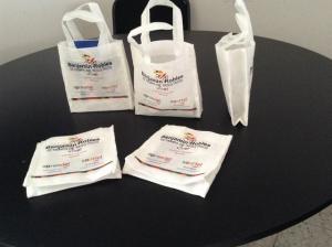 mini bolsas ecologicas blancas