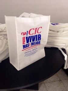 bolsas ecologicas blancas impresas 2 tintas