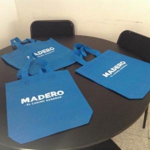 bolsas ecologicas azul turqueza campañas politicas